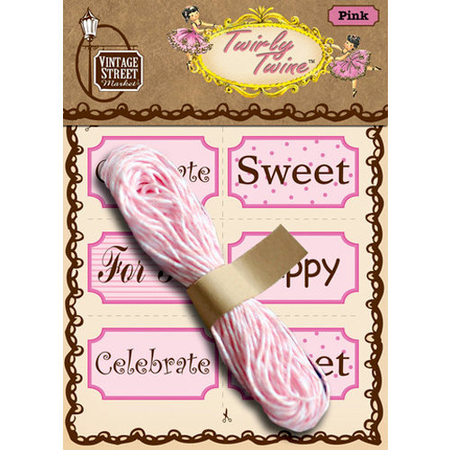 Vintage Street Market - Craft Pantry Staples - Twirly Twine - Pink