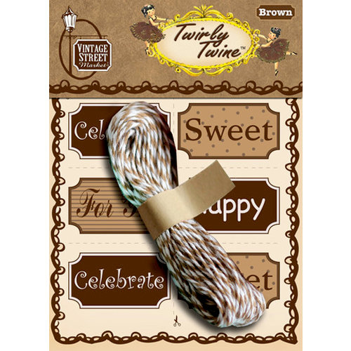 Vintage Street Market - Craft Pantry Staples - Twirly Twine - Brown