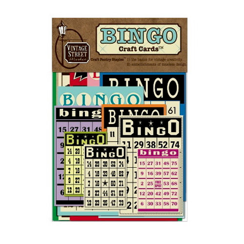 Vintage Street Market - Craft Pantry Staples - Bingo Craft Cards