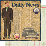 Vintage Street Market - Family Fun Collection - 12 x 12 Double Sided Paper - Distinguished Dad