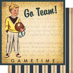 Vintage Street Market - Family Fun Collection - 12 x 12 Double Sided Paper - Captain Johnny