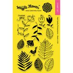 Waffle Flower Crafts - Clear Acrylic Stamps - Leafy