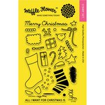 Waffle Flower Crafts - Christmas - Clear Photopolymer Stamps - Stocking