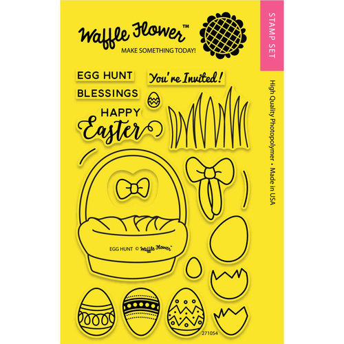 Waffle Flower Crafts - Clear Acrylic Stamps - Egg Hunt