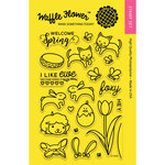 Waffle Flower Crafts - Clear Acrylic Stamps - Welcome Spring