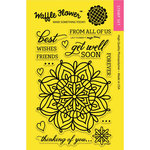 Waffle Flower Crafts - Clear Acrylic Stamps - Lacy Flower