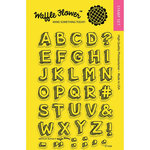 Waffle Flower Crafts - Clear Acrylic Stamps - Sketchy Alpha