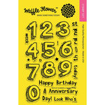 Waffle Flower Crafts - Clear Acrylic Stamps - Sketchy Numbers