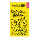 Waffle Flower Crafts - Clear Acrylic Stamps - Birthday Fishes