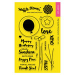 Waffle Flower Crafts - Clear Acrylic Stamps - Balloon Messages