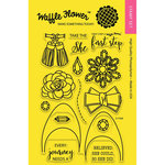 Waffle Flower Crafts - Clear Acrylic Stamps - First Step