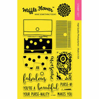 Waffle Flower Crafts - Clear Photopolymer Stamps - Purse-nality