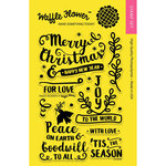 Waffle Flower Crafts - Christmas - Clear Acrylic Stamps - Peace on Earth