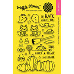 Waffle Flower Crafts - Halloween - Clear Acrylic Stamps - Trick or Treat