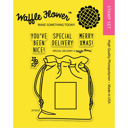 Waffle Flower Crafts - Clear Acrylic Stamps - Special Delivery