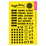Waffle Flower Crafts - Planner Collection - Clear Acrylic Stamps - Planner Dates