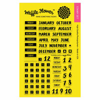Waffle Flower Crafts - Planner Collection - Clear Photopolymer Stamps - Planner Dates