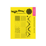 Waffle Flower Crafts - Planner Collection - Clear Acrylic Stamps - Mini Patterns