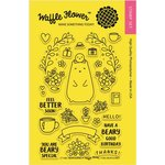Waffle Flower Crafts - Clear Acrylic Stamps - Bear and Bird