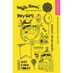 Waffle Flower Crafts - Clear Photopolymer Stamps - Hey Girl