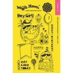 Waffle Flower Crafts - Clear Acrylic Stamps - Hey Girl