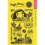 Waffle Flower Crafts - Clear Acrylic Stamps - Enveloper Hello