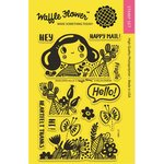 Waffle Flower Crafts - Clear Photopolymer Stamps - Enveloper Hello