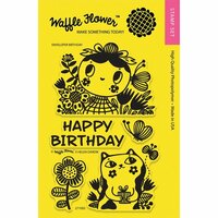 Waffle Flower Crafts - Clear Photopolymer Stamps - Enveloper Birthday