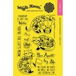 Waffle Flower Crafts - Clear Acrylic Stamps - Flora Cat Meow
