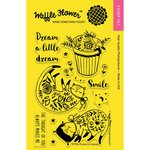 Waffle Flower Crafts - Clear Acrylic Stamps - Flora Cat Dream