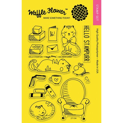 Waffle Flower Crafts - Clear Acrylic Stamps - Hello Stampurr