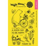 Waffle Flower Crafts - Clear Acrylic Stamps - Happy Day