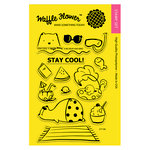 Waffle Flower Crafts - Clear Acrylic Stamps - Stay Cool