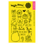 Waffle Flower Crafts - Clear Acrylic Stamps - Sweets