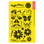 Waffle Flower Crafts - Clear Acrylic Stamps - Pretty Wings