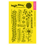 Waffle Flower Crafts - Clear Acrylic Stamps - Pretty Foliage