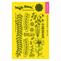 Waffle Flower Crafts - Clear Photopolymer Stamps - Pretty Foliage