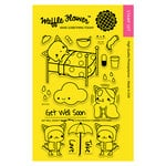Waffle Flower Crafts - Clear Photopolymer Stamps - Get Well Soon