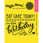 Waffle Flower Crafts - Clear Acrylic Stamps - Eat Cake