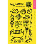 Waffle Flower Crafts - Clear Acrylic Stamps - Meat Up