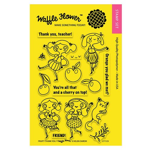 Waffle Flower Crafts - Clear Acrylic Stamps - Fruity Thank You