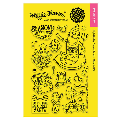 Waffle Flower Crafts - Clear Photopolymer Stamps - The SEAson