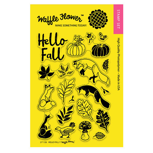 Waffle Flower Crafts - Clear Acrylic Stamps - Hello Fall
