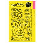 Waffle Flower Crafts - Clear Acrylic Stamps - Stitched Peonies
