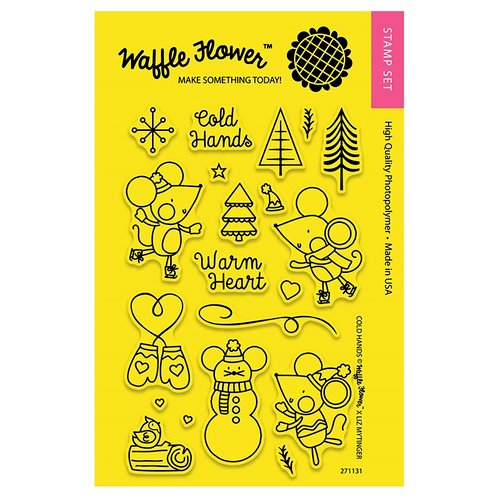 Waffle Flower Crafts - Clear Acrylic Stamps - Cold Hands