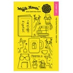 Waffle Flower Crafts - Clear Acrylic Stamps - Books and Coffee