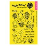 Waffle Flower Crafts - Clear Acrylic Stamps - Enveloper Listen