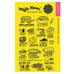 Waffle Flower Crafts - Clear Acrylic Stamps - Food Adventure