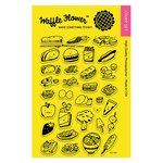 Waffle Flower Crafts - Clear Acrylic Stamps - Grab a Bite