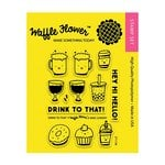 Waffle Flower Crafts - Clear Photopolymer Stamps - Drink to That
